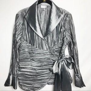 Harve Benard BEAUTIFUL crinkle dress shirt